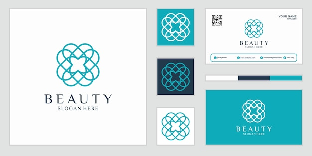 Elegant abstract flowers that inspire beauty, yoga and spa Premium Vector