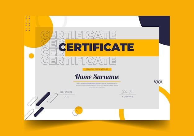 Элегантный абстрактный геометрический шаблон сертификата