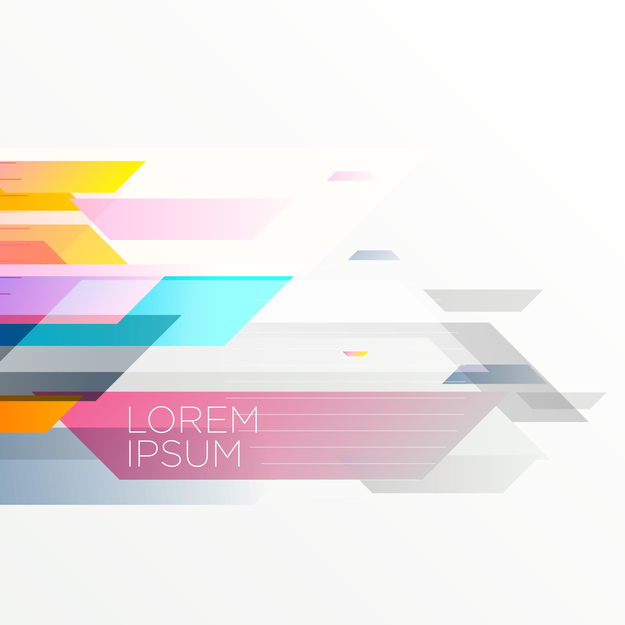 Elegant abstract geometric colorful background