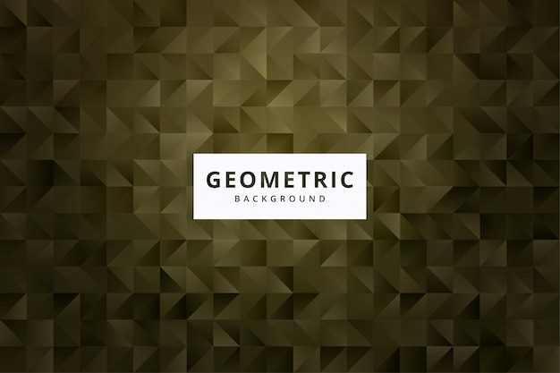 Elegant abstract geometric pattern background wallpaper in gold color vector