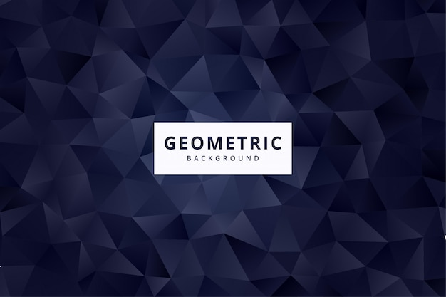 Elegant abstract geometric pattern background wallpaper in navy color vector