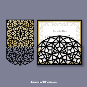 Elegant abstract laser cut invitation
