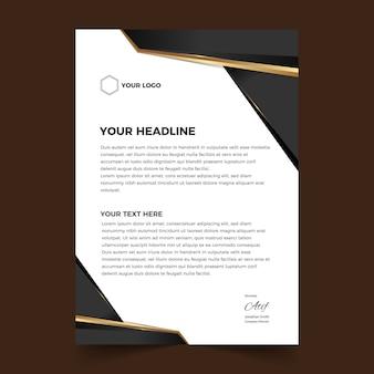 Elegant abstract letterhead design