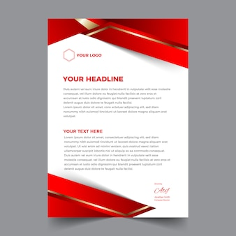 Elegant abstract and modern business letterhead design