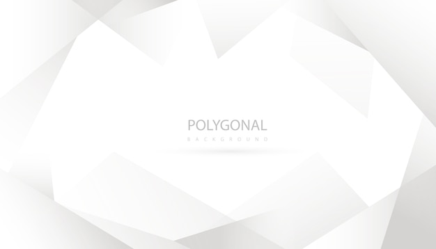 Elegant abstract polygonal