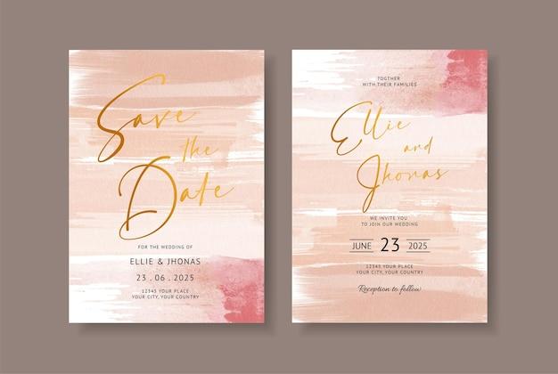 結婚式のカードの招待状にエレガントな抽象的な水彩画