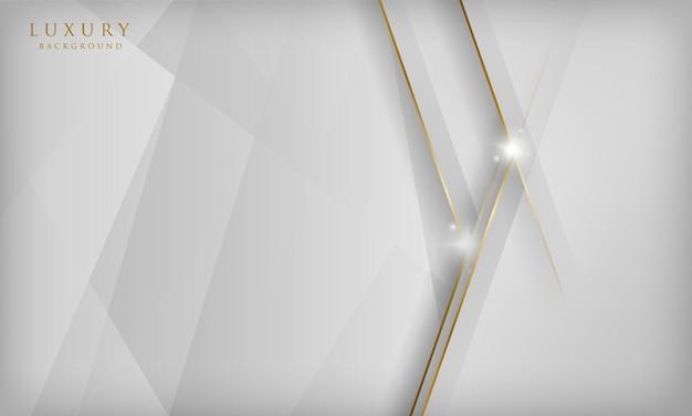 エレガントな抽象的な白い背景金色の線で豪華なコンセプト