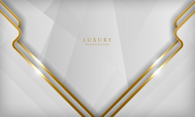 Elegant abstract white background luxury concept with golden lines