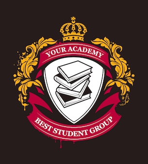 Elegant academy badge