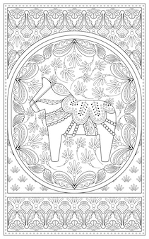 Elegant adult coloring page