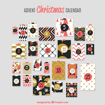 Elegant advent calendar in retro design