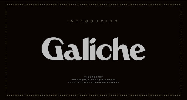 Элегантные буквы алфавита. классические надписи минималистичный дизайн моды. типография современные шрифты без засечек и цифры.