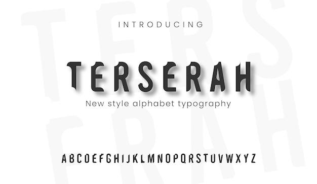 우아한 알파벳 문자 멋진 디자인 미니멀리스트 클래식 문자 현대 산 세리프 글꼴 인쇄술