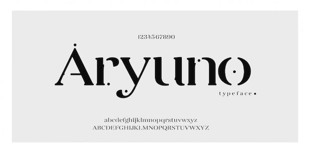 エレガントなアルファベットのフォントと数字。古典的なエレガントなレタリング最小限のファッションデザイン。タイポグラフィフォントは通常の大文字と小文字です。