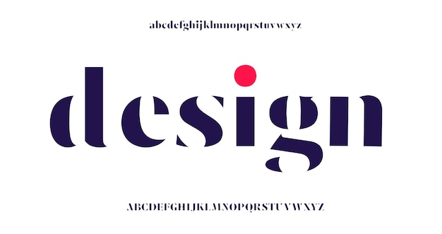 Элегантный шрифт букв алфавита и номер.