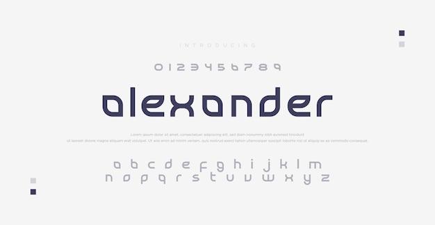 エレガントなアルファベットのフォントと数字