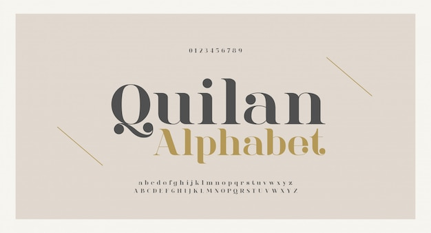 Elegant alphabet letters font and number. classic copper lettering minimal fashion designs. typography fonts regular uppercase and lowercase.