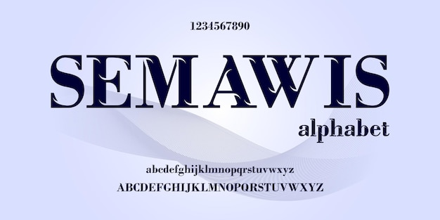 Elegant alphabet letters font and number, classic elegant  design