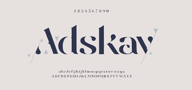 Elegant alphabet letters font and number. classic elegant lettering minimal fashion designs. typography fonts regular uppercase and lowercase.