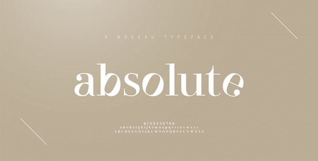 Elegant alphabet letters font and number. classic lettering minimal fashion designs. typography fonts regular uppercase and lowercase.   illustration