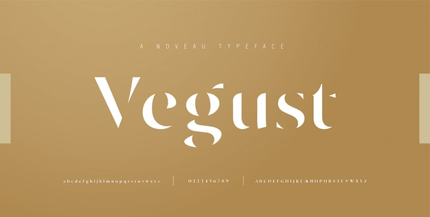 Elegant alphabet letters font and number. classic lettering minimal fashion designs. typography fonts regular uppercase, lowercase and numbers.   illustration