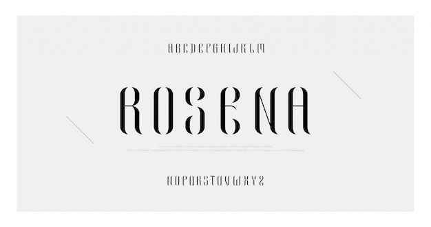 Elegant alphabet letters minimal fashion font set