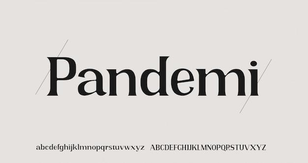 우아한 알파벳 문자 serif 글꼴 및 숫자 세트