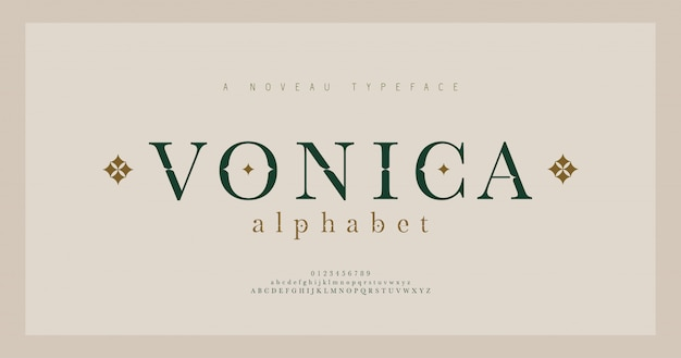 Elegant alphabet letters serif font and number. classic lettering minimal fashion. typography fonts regular uppercase, lowercase and numbers.   illustration