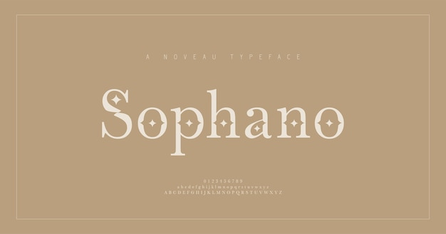 Elegant alphabet letters serif font and number. classic lettering minimal fashion. typography fonts regular uppercase, lowercase and numbers.