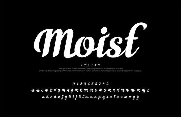 Elegant alphabet letters set. classic custom lettering designs