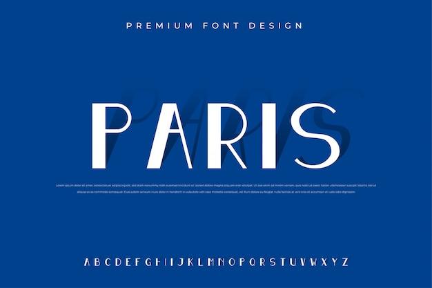 Элегантный алфавит с минималистским и современным стилем премиум