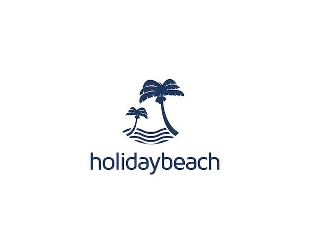 Элегантный и чистый дизайн логотипа острова кокосовых пальм