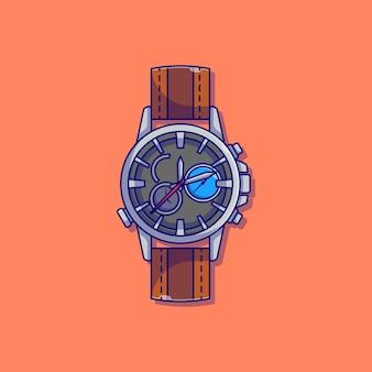 エレガントで豪華なアナログ時計ベクトルイラストデザイン