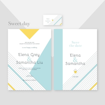 Elegant and modern design of wedding invitation template