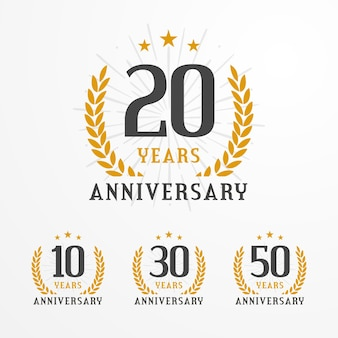 Elegant anniversary logo badge collection