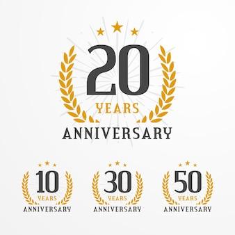 Elegant anniversary logo badge collection