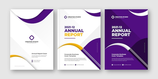 Elegant annual report business flyer modern design template