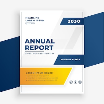 Elegant annual report business flyer modern design Free Vector
