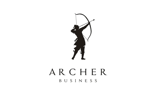 Elegant archer logo design