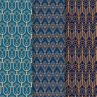 Elegant art deco pattern pack