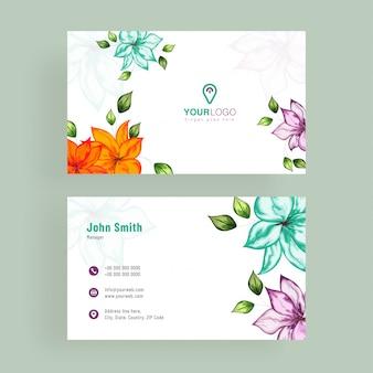 Elegant, artistic business card.