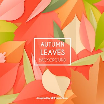 Elegant autumn background with flat design