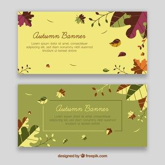 Elegant autumn banners