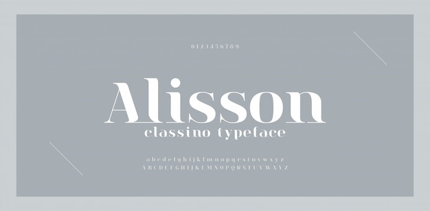 Elegant awesome alphabet letters font and number. classic lettering minimal fashion designs. typography fonts regular uppercase and lowercase