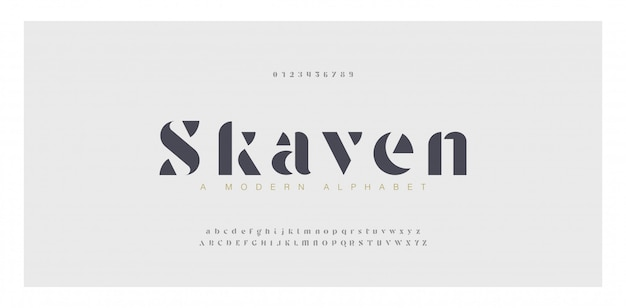 Elegant awesome alphabet letters font and number. classic lettering minimal fashion designs.