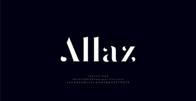 Elegant awesome alphabet letters font and number classic lettering minimal fashion typography font