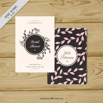 Elegant bachelorette invitation template