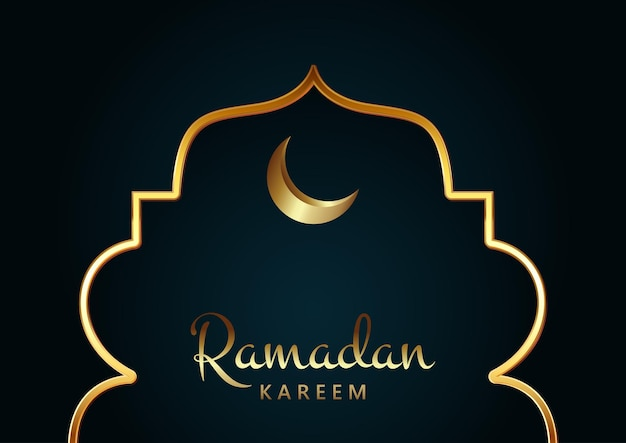 Ramadan karemm을위한 우아한 배경 디자인