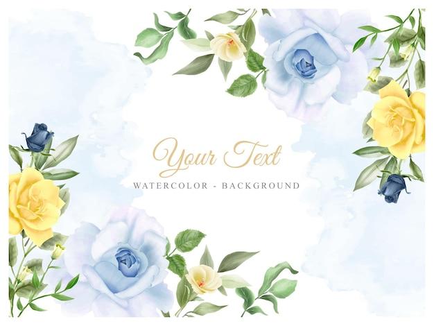 Элегантный фон цветочная акварель