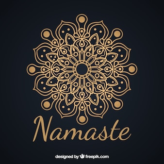 Elegant background of namaste with mandala